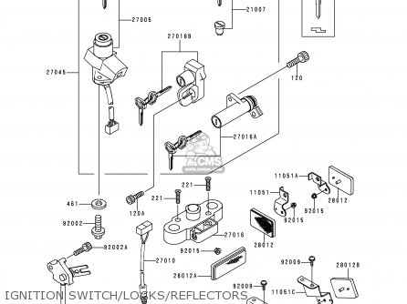Kawasaki ZR1100C3 ZRX1100 1999 USA CANADA parts lists and