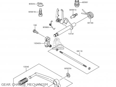 Kawasaki ZR550B4 ZEPHYR 1993 CANADA parts lists and schematics