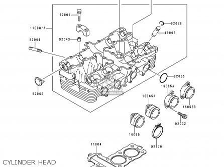 Kawasaki Zr550b9 Zephyr 1998 Fg parts list partsmanual