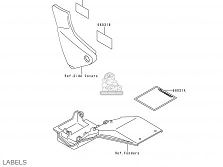 Kawasaki ZR550B9 ZEPHYR 1998 FG parts lists and schematics