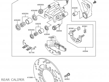 Kawasaki Zr750c1 Zephyr 1991 Usa California Canada parts