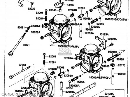 Kawasaki Zx1000b1 1988 Europe Uk Fr Ar Gr It Nr Sd parts