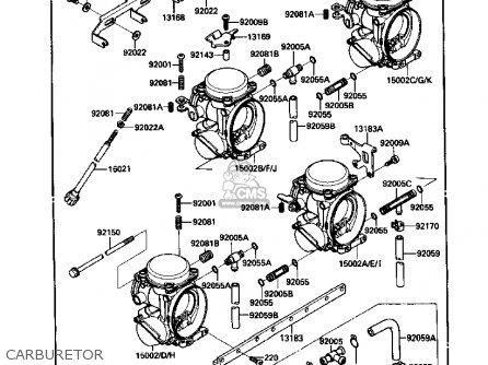 Kawasaki ZX1000B1 ZX10 1988 USA CALIFORNIA CANADA parts