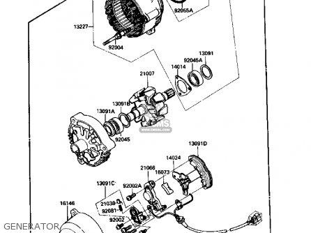 Kawasaki Zx1000b2 Zx10 1989 Usa California Canada parts