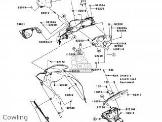Kawasaki ZX1000FAF NINJA ZX10R 2010 USA parts lists and