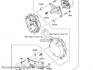 Kawasaki ZX1000JBF NINJA ZX10R 2011 USA parts lists and