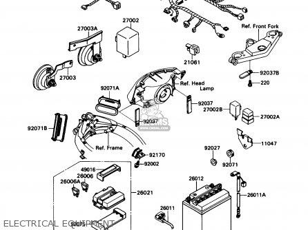 Kawasaki ZX1100C1 ZX11 1990 USA CALIFORNIA CANADA parts