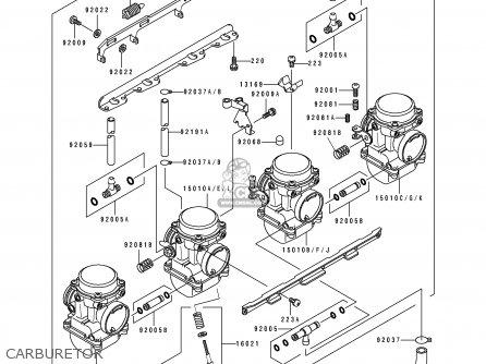 Kawasaki ZX1100E1 GPZ1100 1995 USA CALIFORNIA CANADA parts