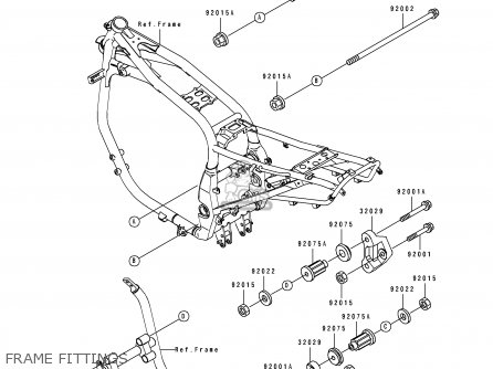 Kawasaki ZX1100E2 GPZ1100 1996 USA CALIFORNIA CANADA parts