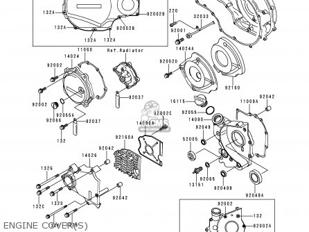 Kawasaki ZX1100G3 ZZR1100 1999 FG parts lists and schematics