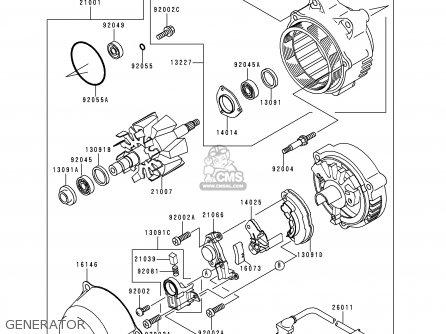 Kawasaki Zx1100g3 Zzr1100 1999 Fg parts list partsmanual