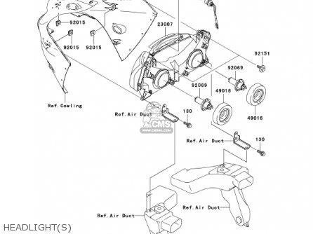 Kawasaki Zx1200a2 Zx12r 2001 Usa California Canada parts