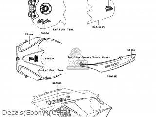 Kawasaki ZX1400C9FB NINJA ZX14 2009 USA parts lists and