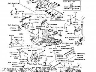 Kawasaki ZX1400CBF NINJA ZX14 2011 USA parts lists and