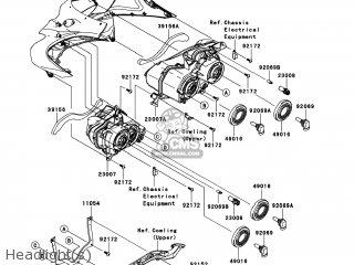 Kawasaki ZX1400ECF NINJA ZX14R 2012 USA parts lists and
