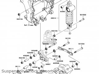 Kawasaki ZX1400ECF NINJA ZX14R 2012 USA parts lists and