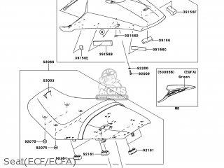 Kawasaki ZX1400ECFA NINJA ZX14R 2012 USA parts lists and