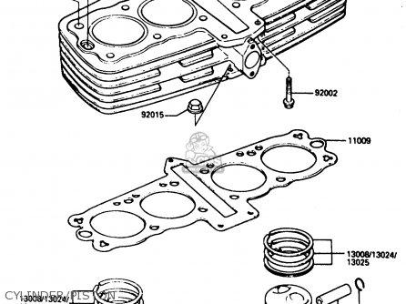 Kawasaki ZX400C3 1987 UNITED KINGDOM SP ST parts lists and