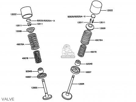 Kawasaki Zx400c4 Z400fii 1991 Spain parts list partsmanual