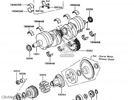 Kawasaki ZX400C5 Z400FII 1994 EUROPE parts lists and