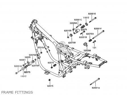 Kawasaki Zx400c5 Z400fii 1994 Europe parts list