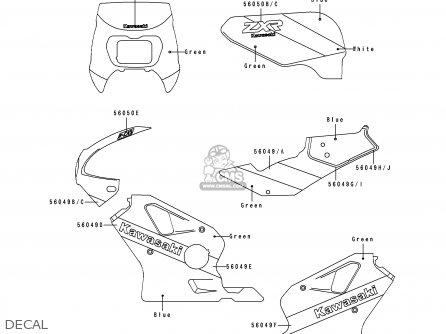 Kawasaki Zx400h2 Zxr400 1990 Europe Fr Ar It parts list