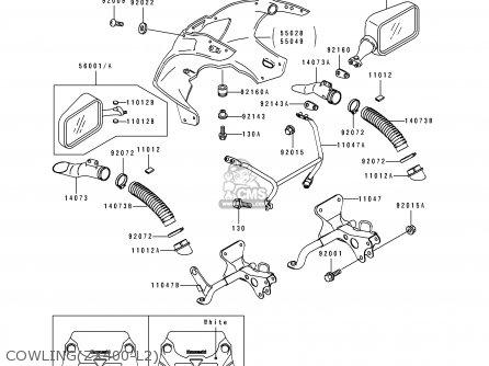 Kawasaki ZX400L2 ZXR400 1992 EUROPE UK FR AR FG GR IT NR