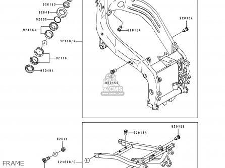 Kawasaki ZX400L3 ZXR400 1993 EUROPE UK FR AR FG IT parts