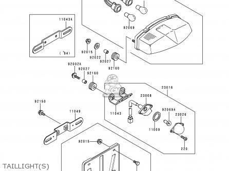 Kawasaki Zx400l7 Zxr400 1997 Austria Fg parts list