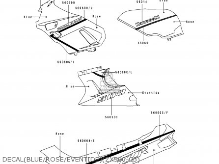Kawasaki ZX500C3 ZZR500 1992 AUSTRIA parts lists and