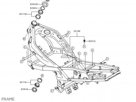 Kawasaki Zx500d1 Zzr550 1993 Austria Gr parts list
