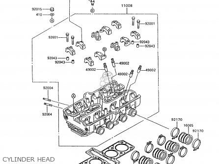 Kawasaki ZX600C10 GPX600R 1997 FG parts lists and schematics