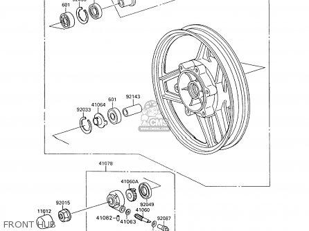 Kawasaki Zx600c10 Gpx600r 1997 Fg parts list partsmanual