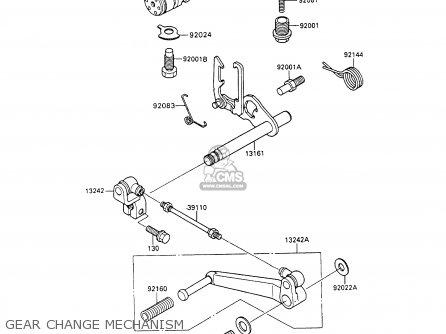 Kawasaki Zx600c3 Ninja 600r 1990 Usa California parts list