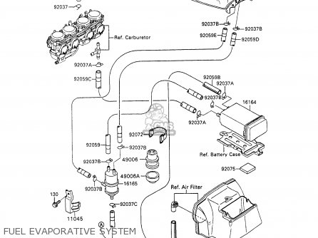 Kawasaki Zx600c5 Ninja 600r 1992 Usa California parts list