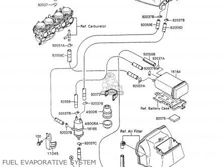 Kawasaki ZX600C6 NINJA 600R 1993 USA CALIFORNIA parts
