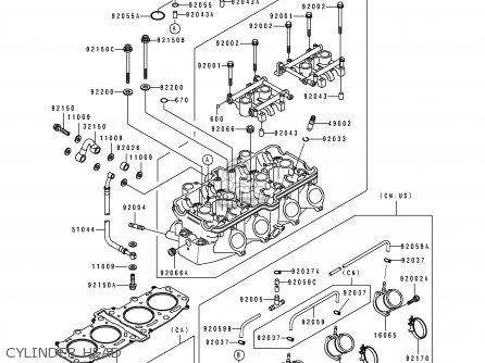 Kawasaki ZX600D1 NINJA ZX6 1990 USA CALIFORNIA CANADA