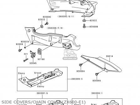 Kawasaki ZX600E1 ZZR600 1993 EUROPE UK FR NL AR FG GR IT
