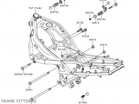 Kawasaki ZX600E2 ZZR600 1994 EUROPE UK FR NL AR FG GR IT