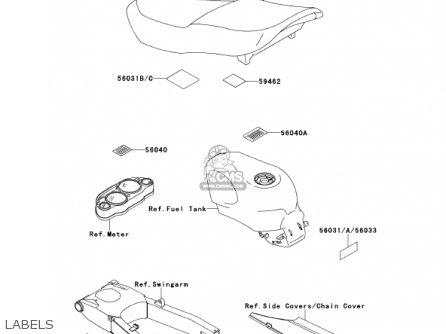Kawasaki ZX600E8 NINJA ZX6 2000 USA CALIFORNIA CANADA