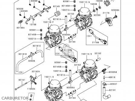 Kawasaki ZX600G1 NINJA ZX6R 1998 USA CALIFORNIA CANADA