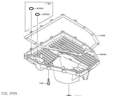 Kawasaki ZX600H1 NINJA ZX6R 1998 FG ST parts lists and