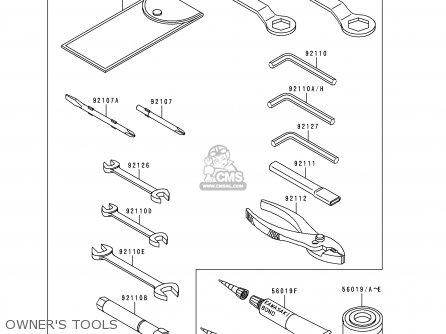 Kawasaki Zx600h1 Ninja Zx6r 1998 Fg St parts list