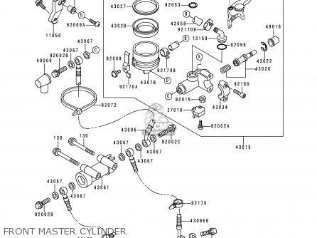 Kawasaki ZX600H2 NINJA ZX6R 1999 FG ST parts lists and