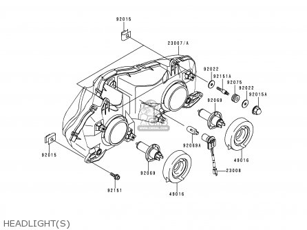 Kawasaki Zx600j1h Ninja Zx6r 2000 Europe Uk Fr Is Nr parts