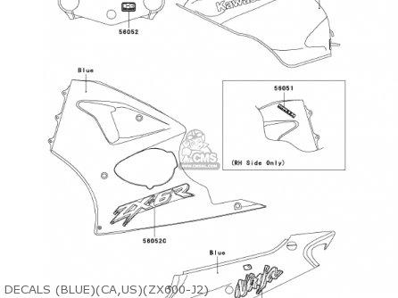 Kawasaki Zx600j2 Ninja Zx6r 2001 Usa California Canada