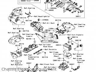 Kawasaki ZX600P7F NINJA ZX6R 2007 USA parts lists and