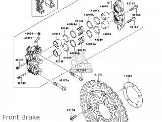 Kawasaki ZX600P8F NINJA ZX6R 2008 USA parts lists and
