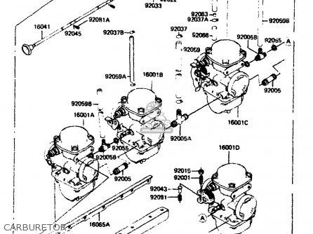 Kawasaki Zx750a2 1984 Europe Uk Fr Gr It Nr Sd parts list