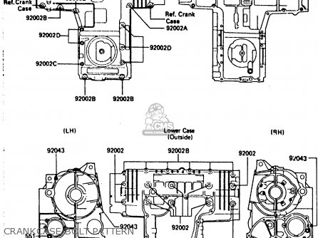 Kawasaki Zx750a5 Gpz750 1987 Usa parts list partsmanual